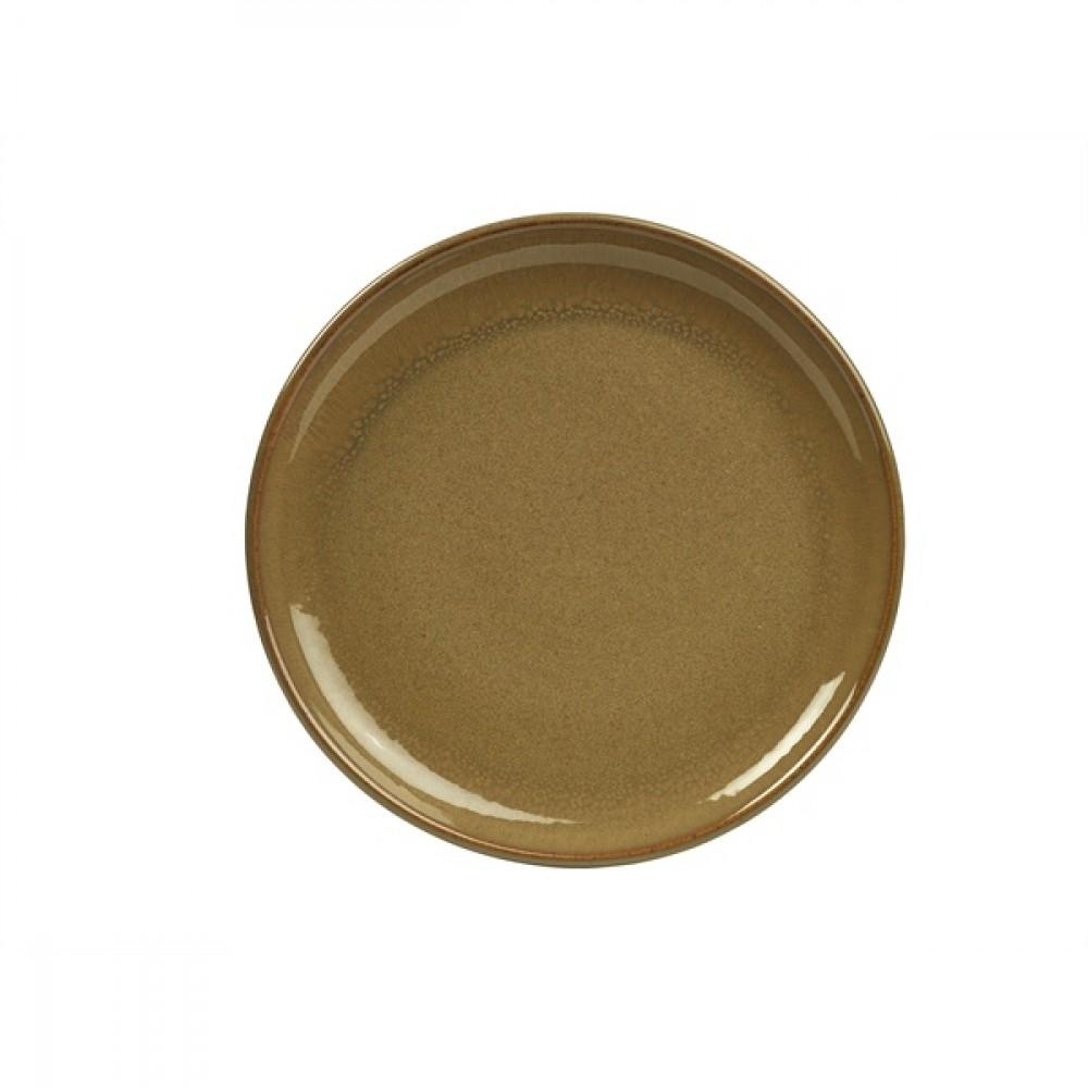 "Terra Stoneware Coupe Plate Brown 19cm-7.5"""