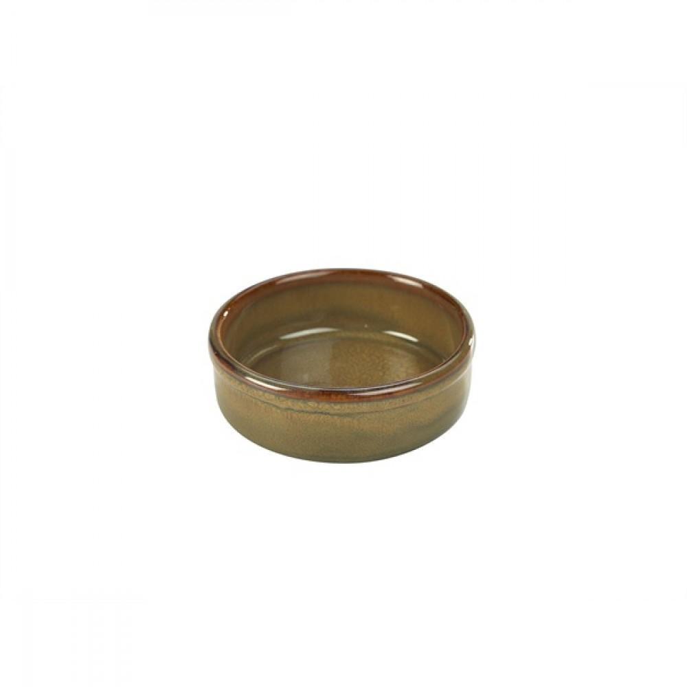 "Terra Stoneware Tapas Dish Brown 10cm-4"""