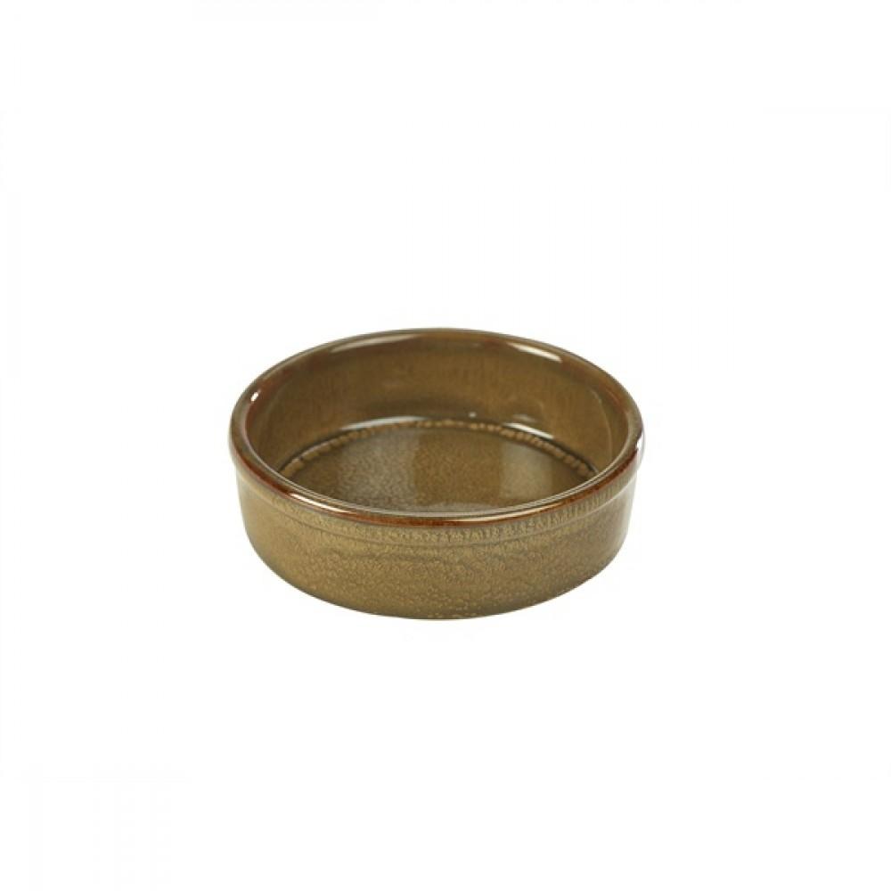"Terra Stoneware Tapas Dish Brown 13cm-5.1"""