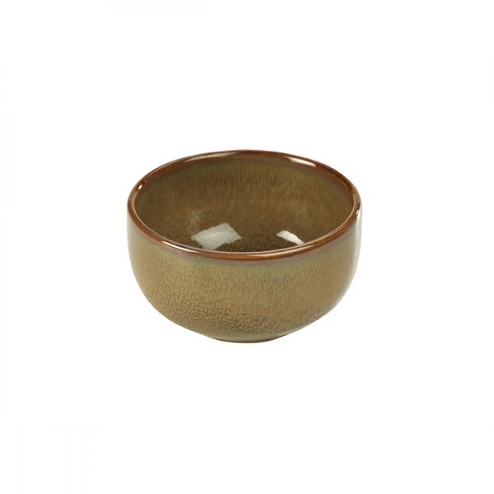 "Terra Stoneware Round Bowl Brown 11.5cm-4.5"""