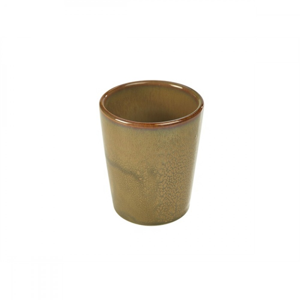 Terra Stoneware Conical Cup Brown 10cm-4""