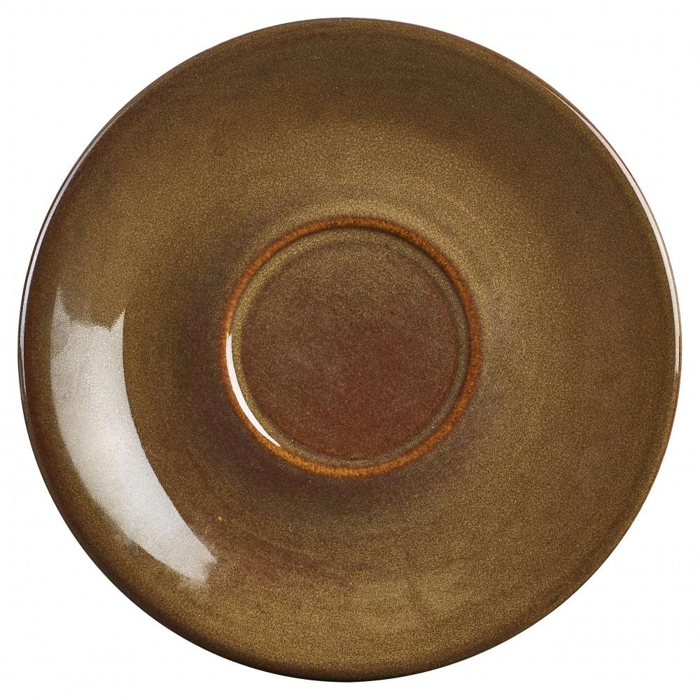 Terra Stoneware Rustic Saucer Brown 15cm