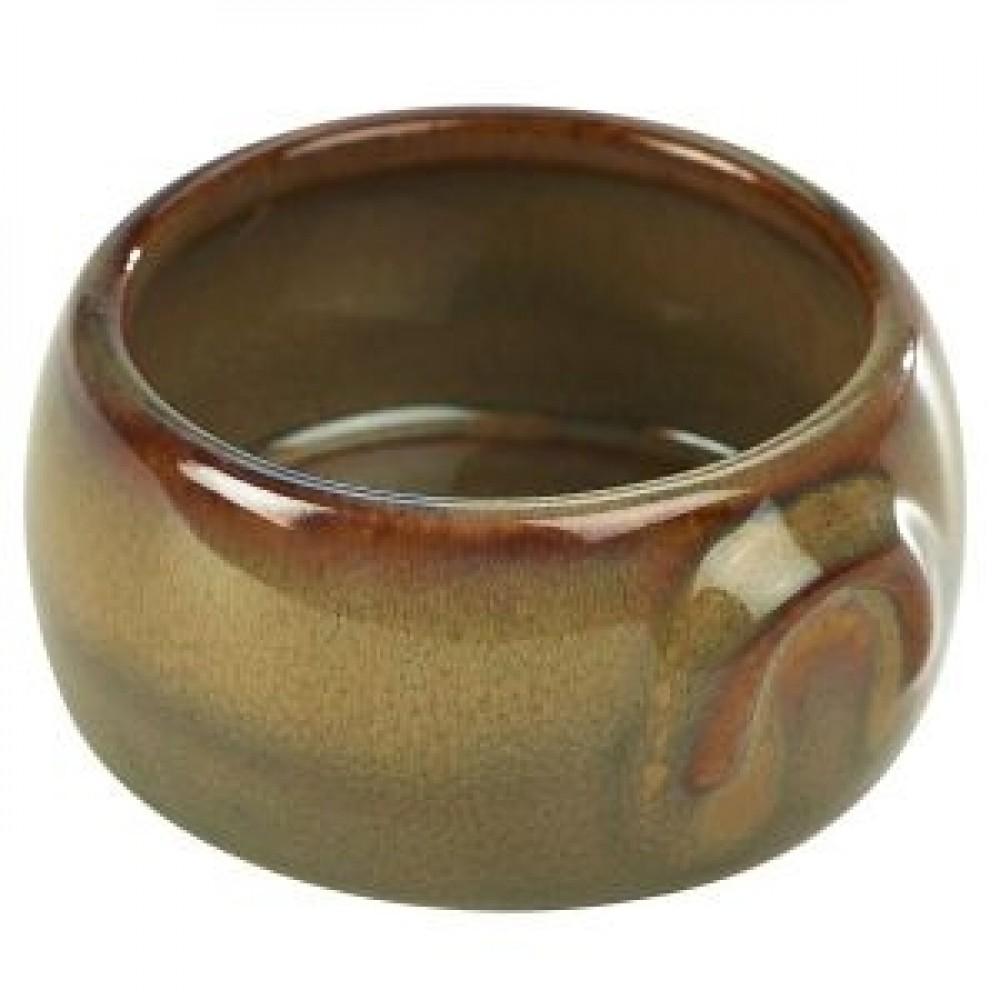 Terra Stoneware Butter Pot Brown 9cl-3oz