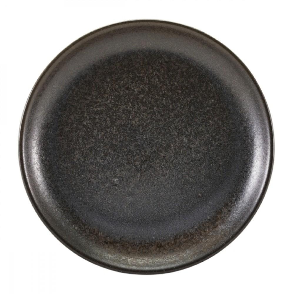 """Terra Porcelain Coupe Plate Black 24cm-9.25"""""""