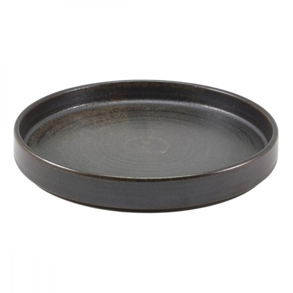 "Terra Porcelain Presentation Plate Black 21cm-8.25"""