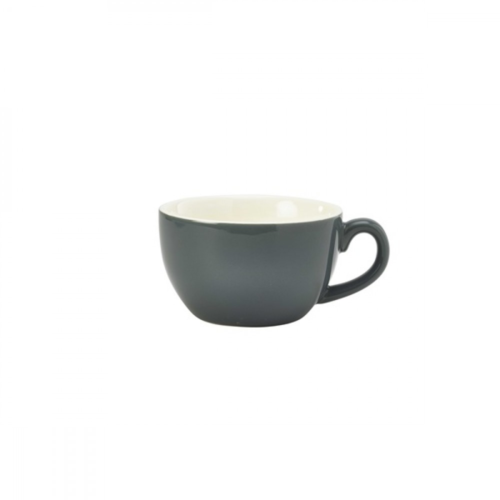 Genware Bowl Shaped Cup Grey 25cl-8.75oz