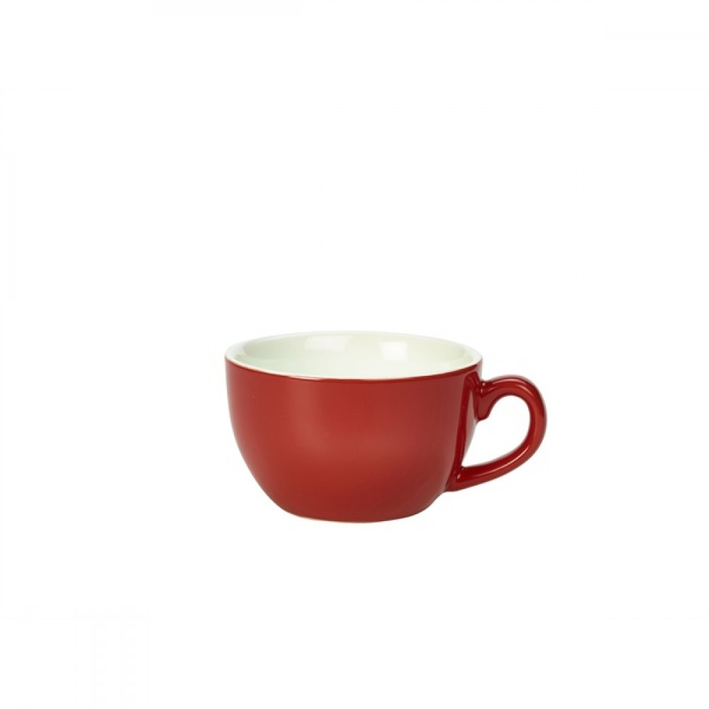 Genware Bowl Shaped Cup Red 25cl-8.75oz