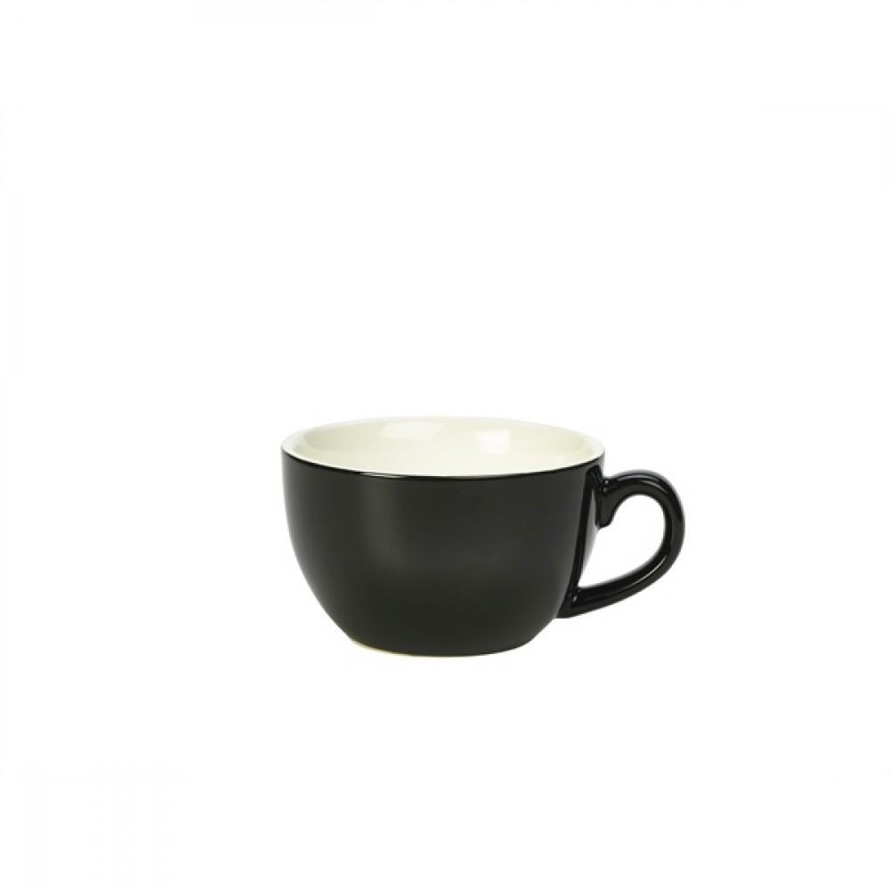 Genware Bowl Shaped Cup Black 25cl-8.75oz
