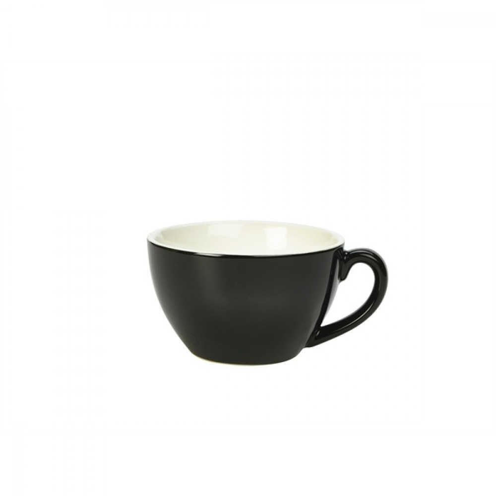 Genware Bowl Shaped Cup Black 34cl-12oz
