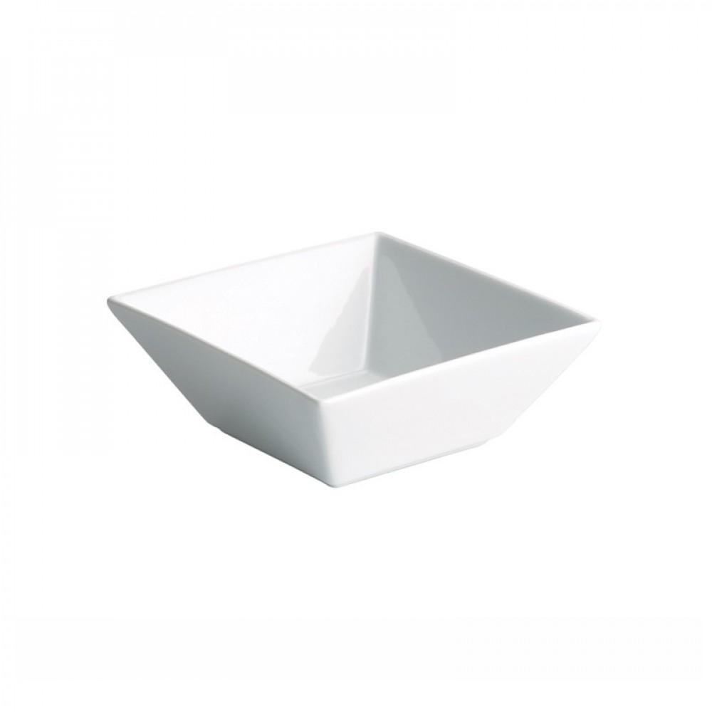 Genware Square Dip Dish 8x4cm fits Black Wooden Base 27x10cm