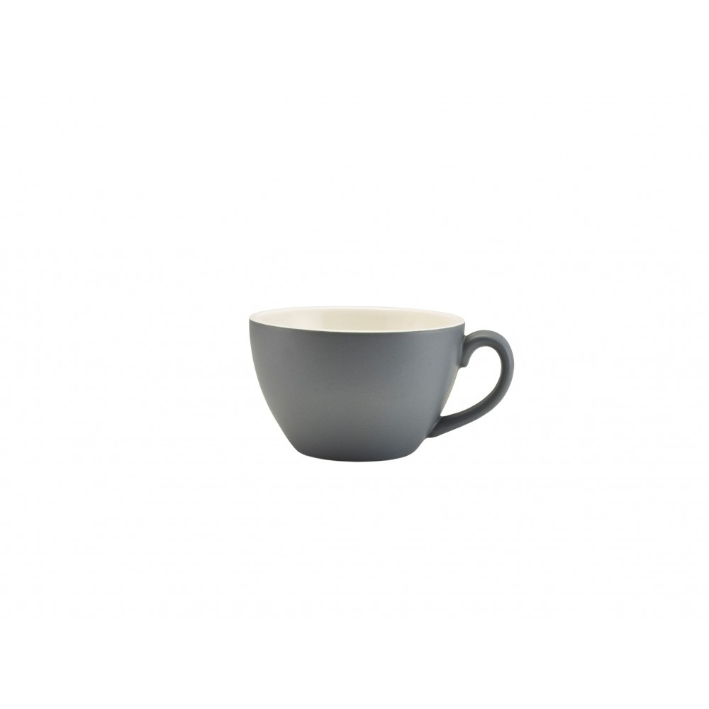 Genware Bowl Shaped Cup Matt Grey 34cl-12oz