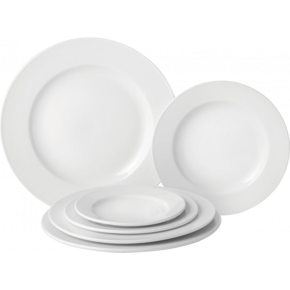"""Utopia Pure White Wide Rim Plate 23cm/9"""""""