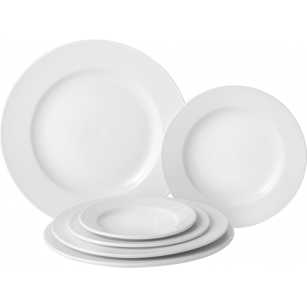 """Utopia Pure White Wide Rim Plate 25cm/10"""""""