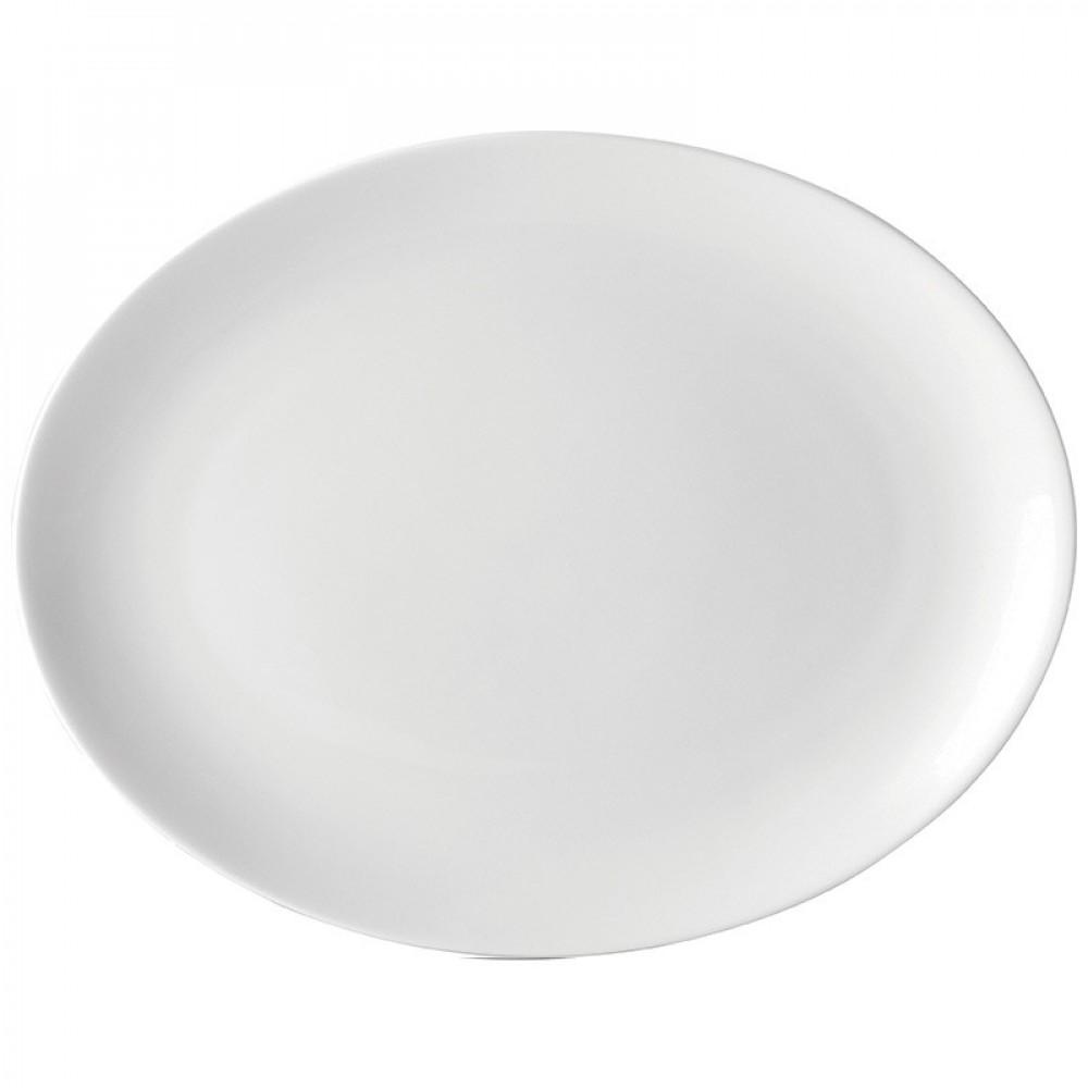 """Utopia Pure White Oval Plate 25cm/10"""""""