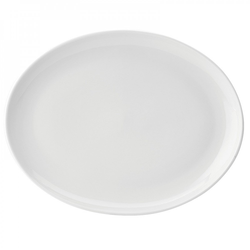 Utopia Pure White Oval Plate 36cm/14""