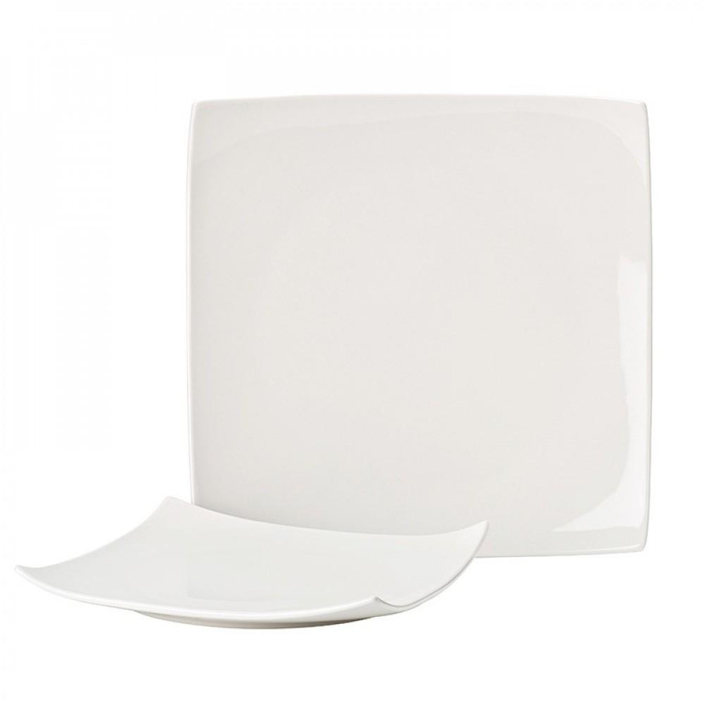"""Utopia Pure White Square Plate 20.5cm/8"""""""
