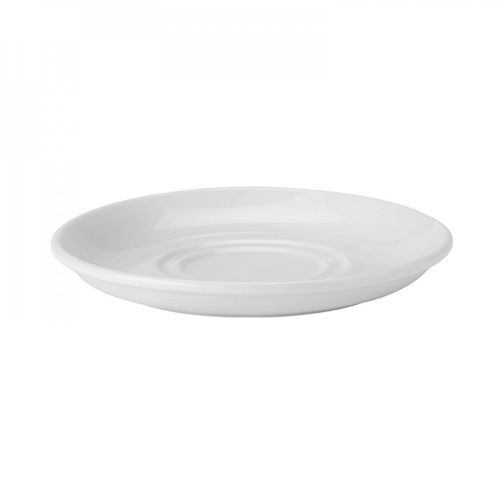 Utopia Pure White Double Well Saucer 15cm/6""