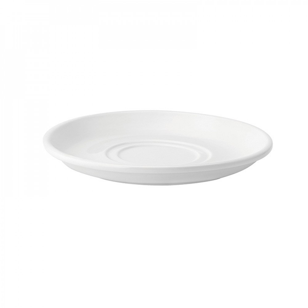 Utopia Pure White Double Well Saucer 17.5cm/7""