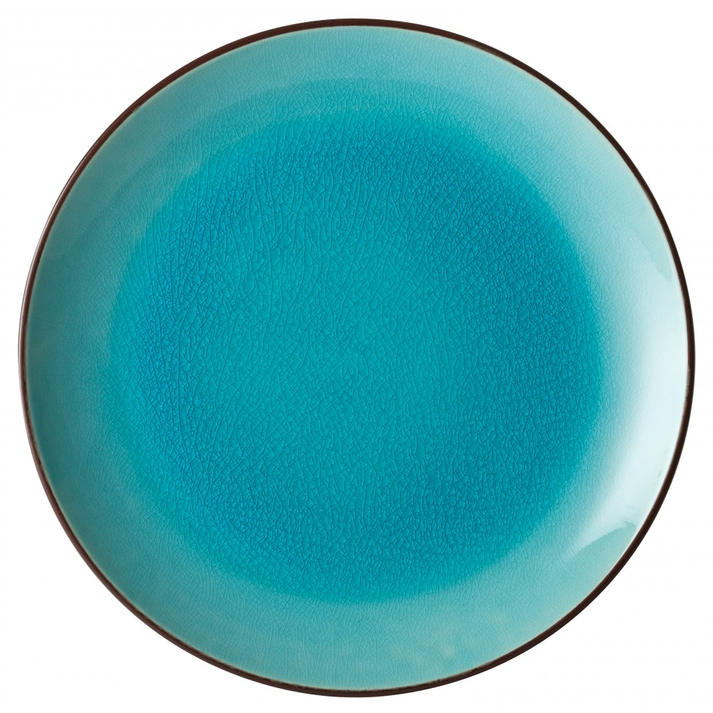 "Utopia Soho Aqua Coupe Plate 25cm-10"""