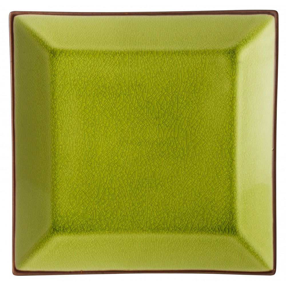 "Utopia Soho Verdi Square Plate 25cm-10"""