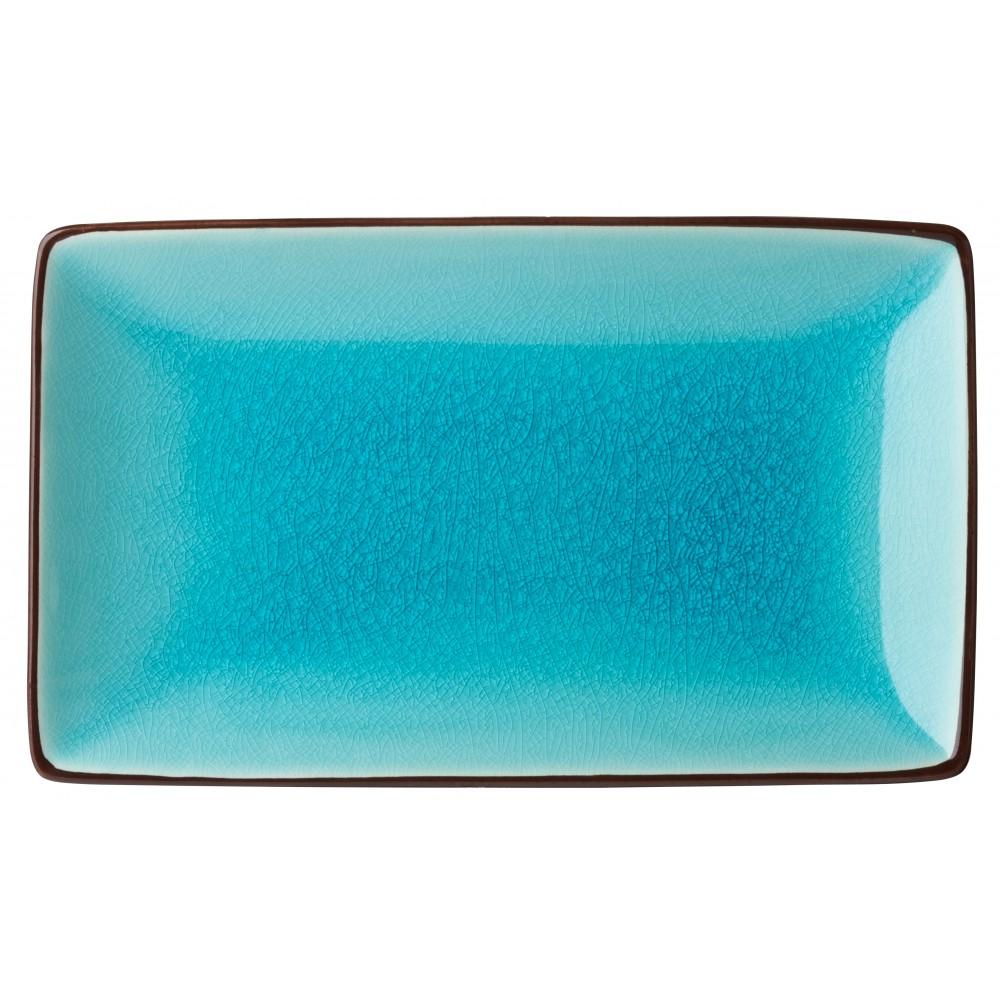 "Utopia Soho Aqua Rectangular Plate 21x14cm-8.5x5.5"""