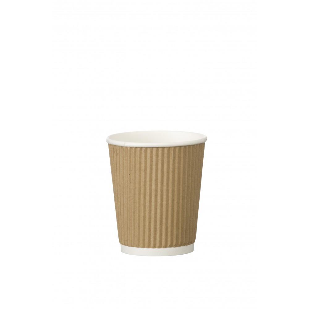 Berties Kraft Ripple Cup 23cl/8oz