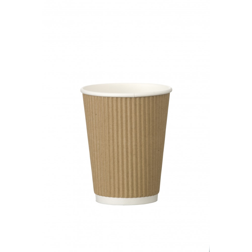 Berties Kraft Ripple Cup 34cl/12oz
