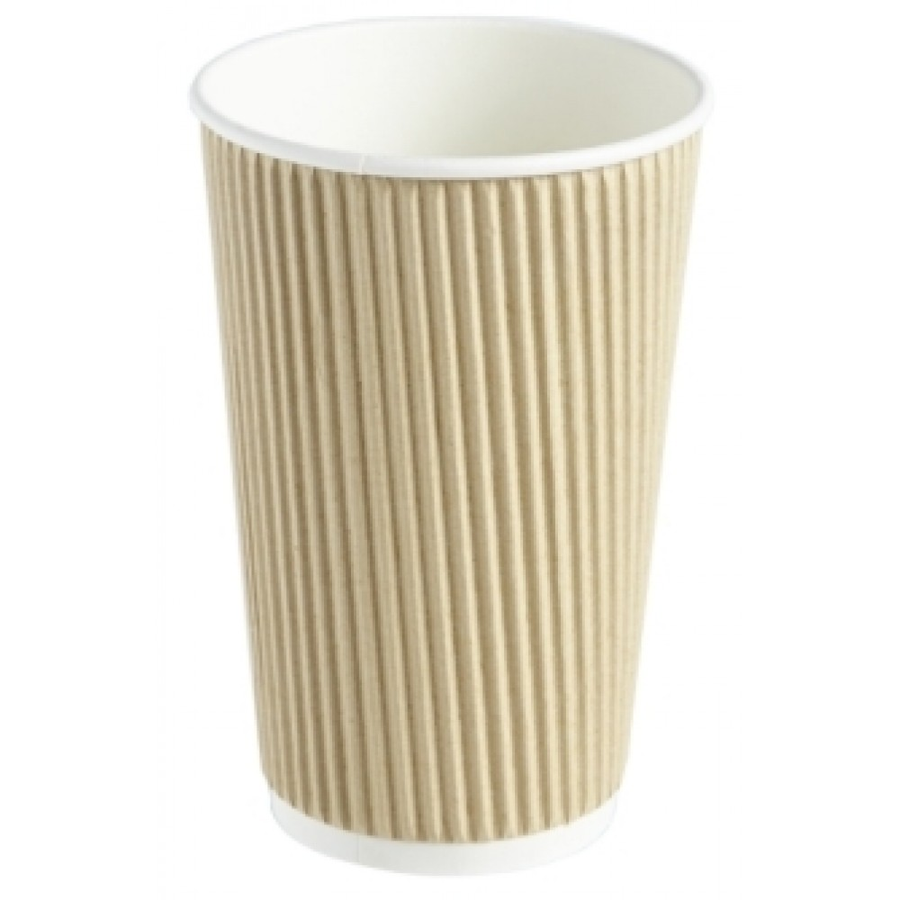 Berties Kraft Ripple Cup 45cl/16oz