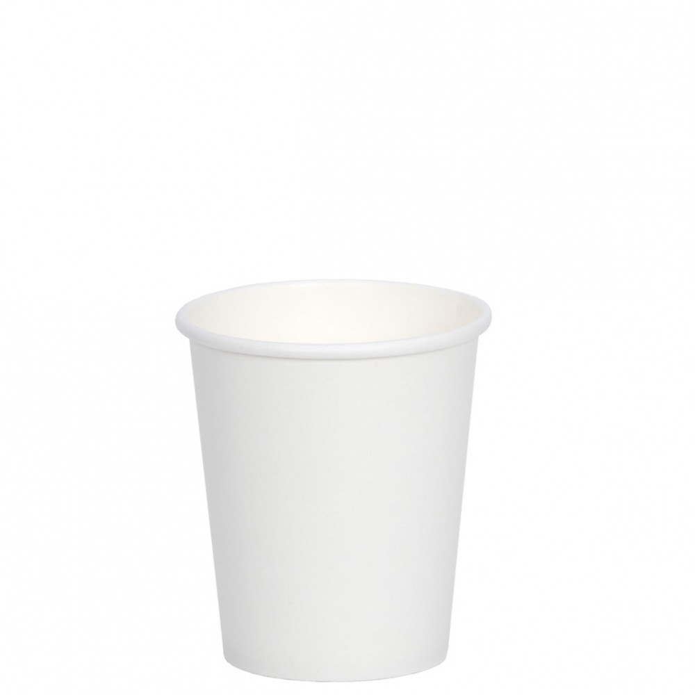 Berties White Single Wall Paper Cup 11cl/4oz
