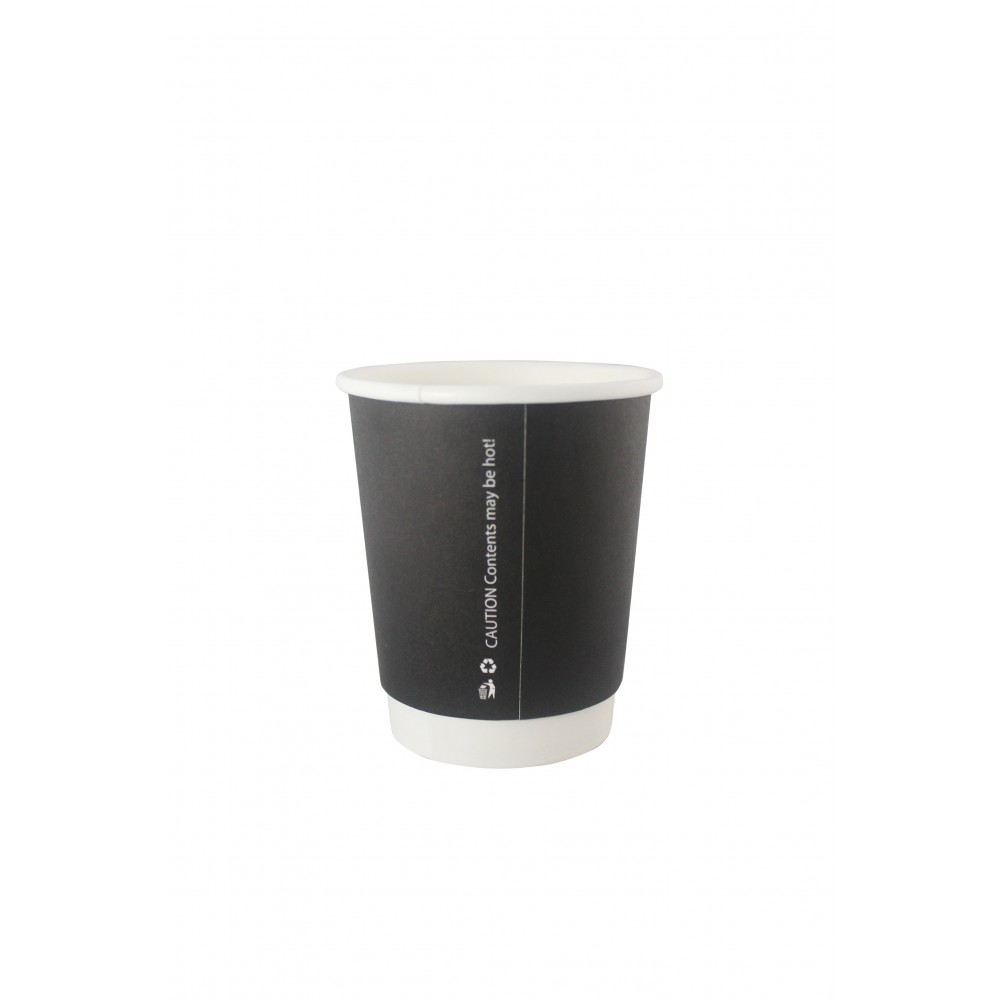 Berties Black Double Wall Paper Cup 23cl/8oz