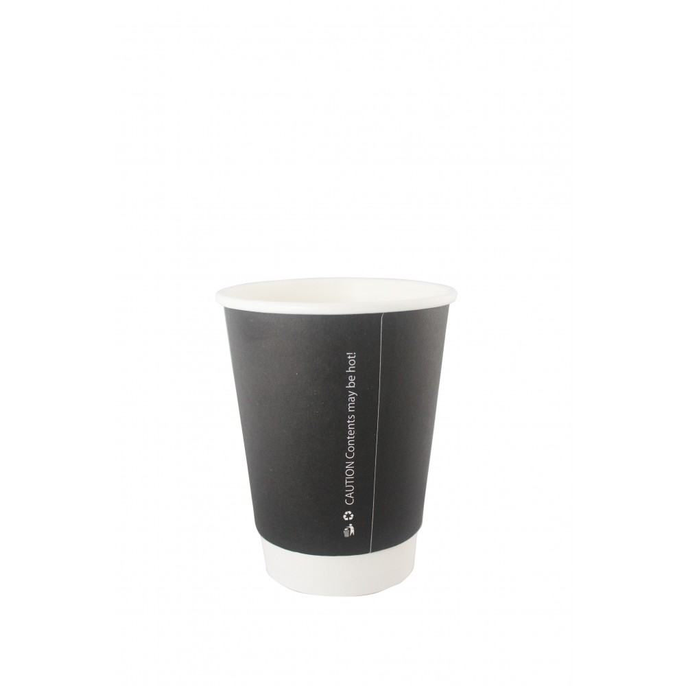 Berties Black Double Wall Paper Cup 34cl/12oz
