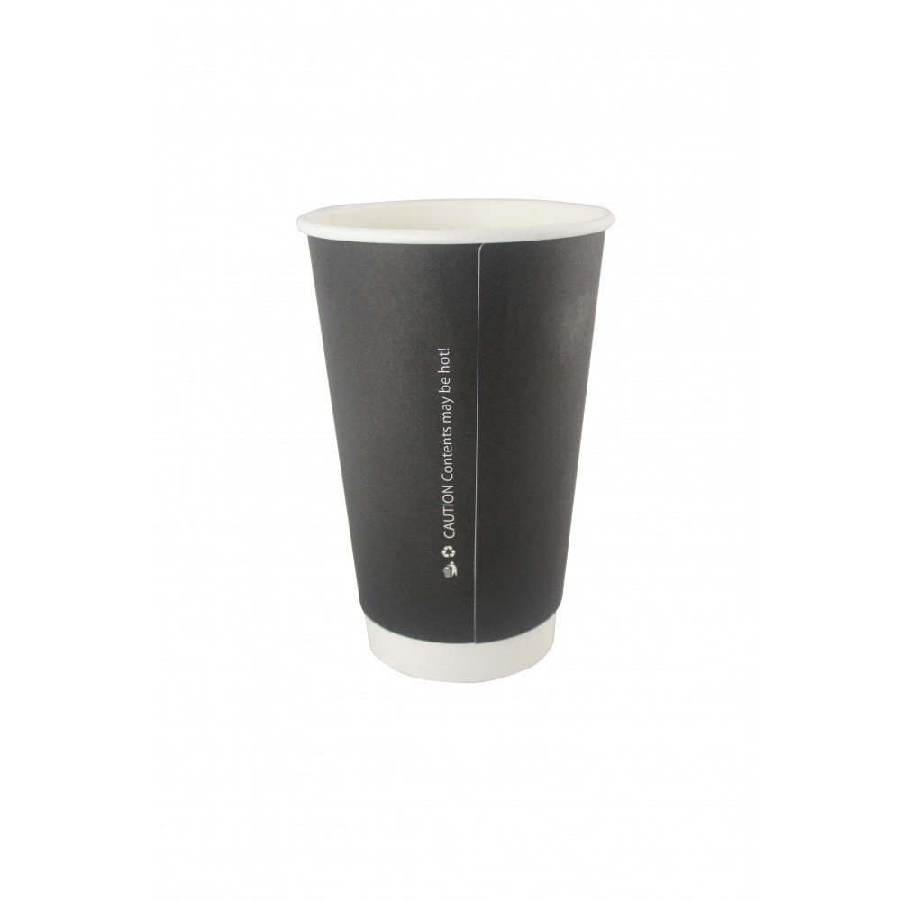 Berties Black Double Wall Paper Cup 45cl/16oz