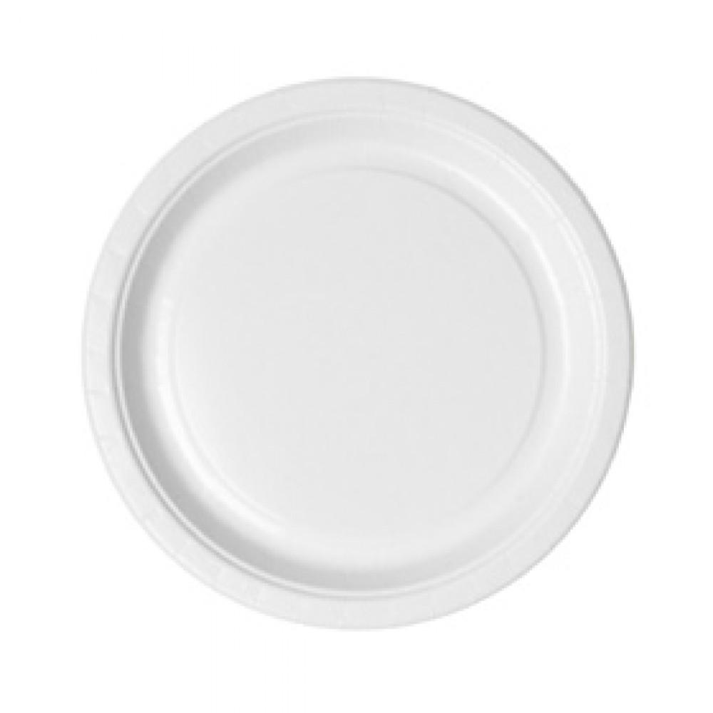 Berties White Paper Snack Plate 23cm