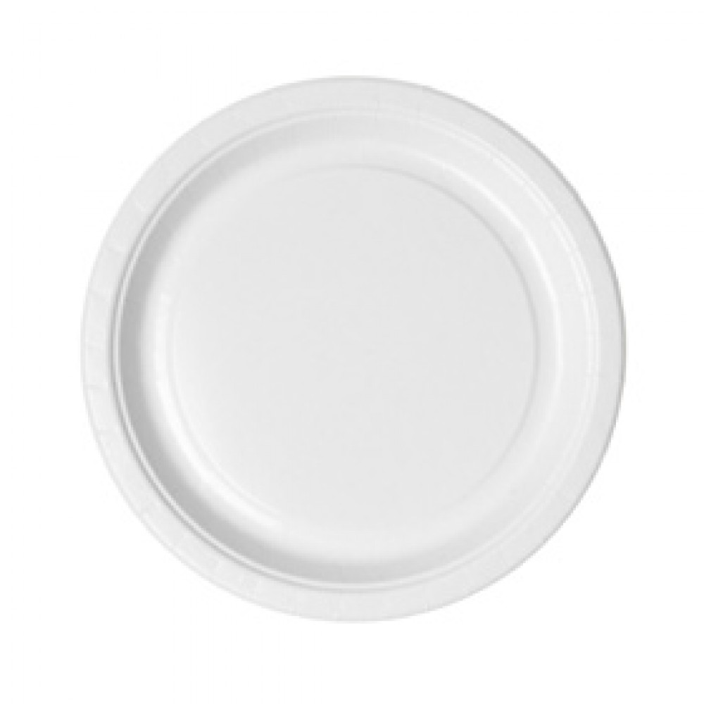 Berties White Paper Snack Plate 14.6cm