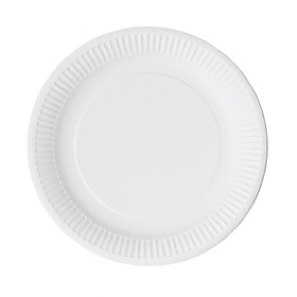 Berties White Paper Snack Plate 17cm