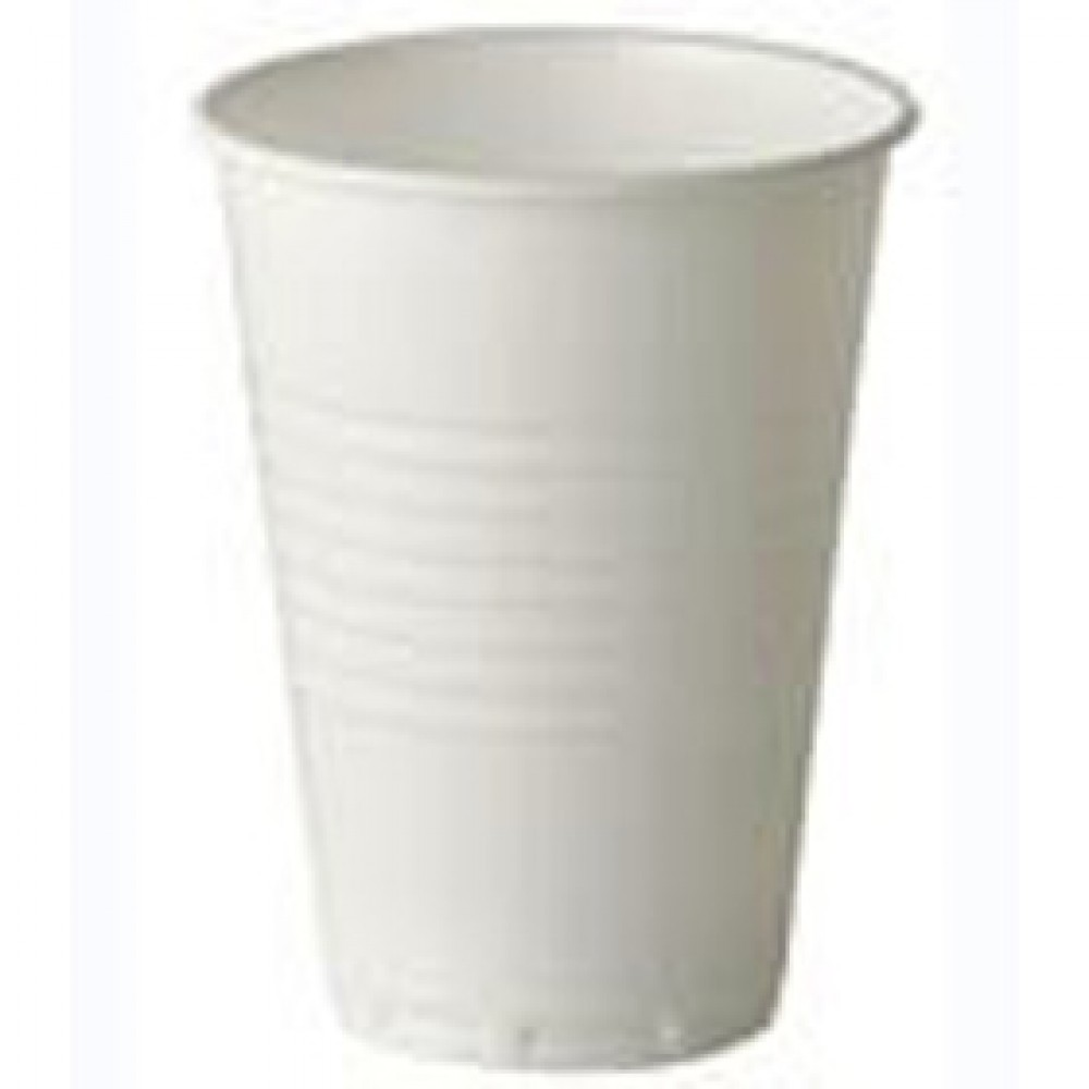 Berties White Tall Plastic Vending Cup 7oz