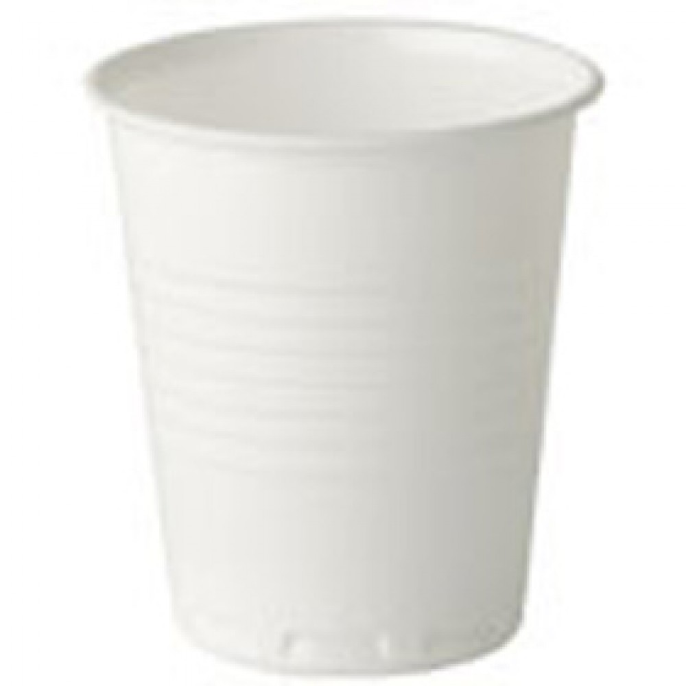 Berties White Squat Plastic Vending Cup 7oz