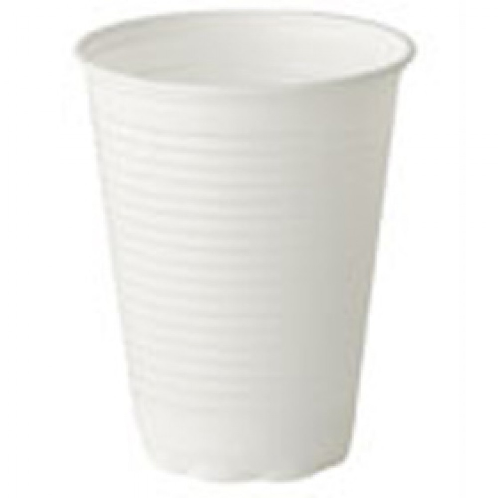 Berties White Squat Plastic Non-Vend Cup 7oz