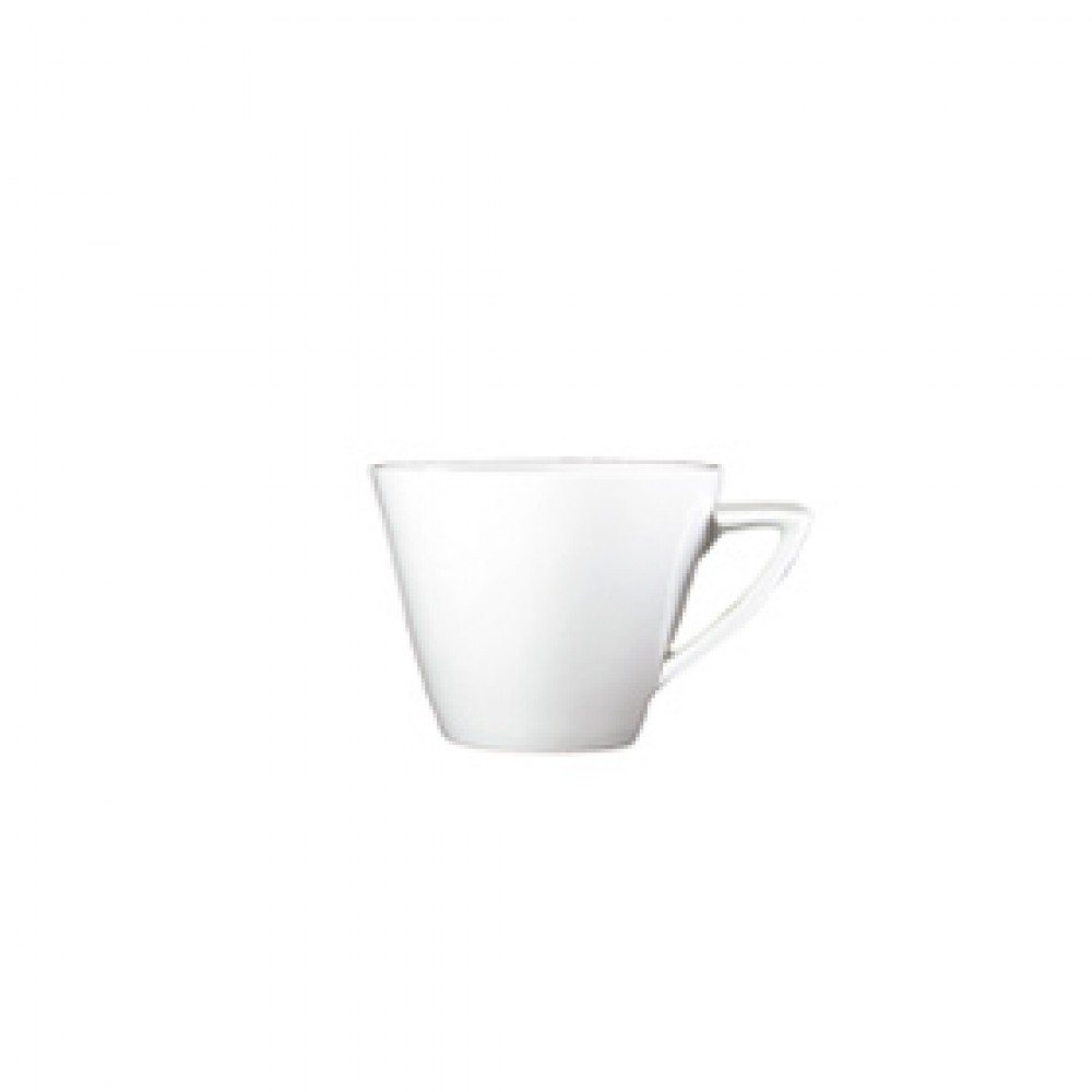 Genware Fine China Modern Angled Handle Cup 22cl/8oz