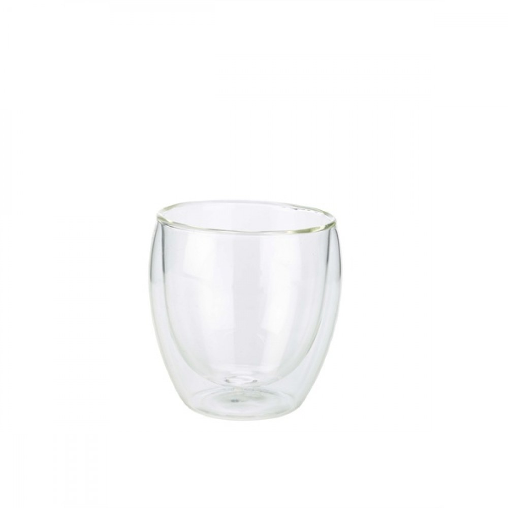 Berties Double Walled Coffee Glass 250ml 8x8.5cm