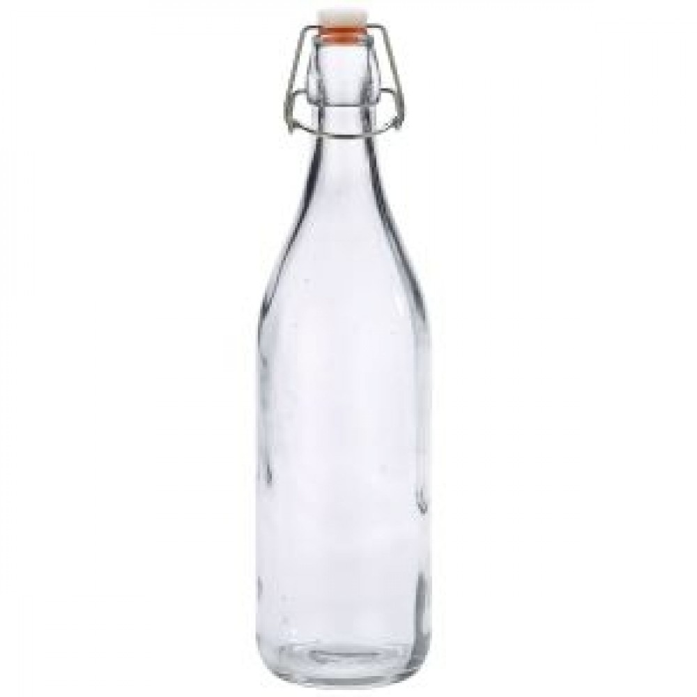 Genware Glass Swing Bottle 1L