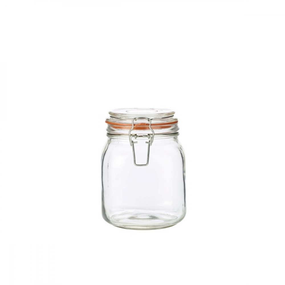 Genware Glass Terrine Jar 1L