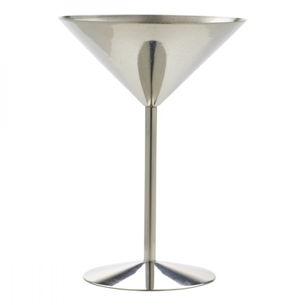 Berties Stainless Steel Martini Glass 24cl/8.5oz