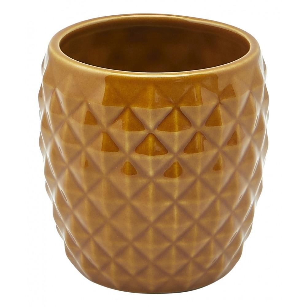 Genware Pineapple Tiki Mug Brown 40cl-14oz