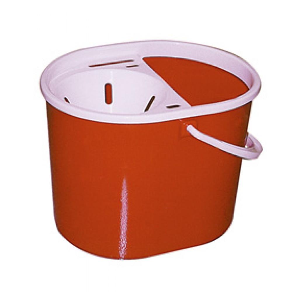 Berties Standard Oval Mop Bucket Red 15Ltr