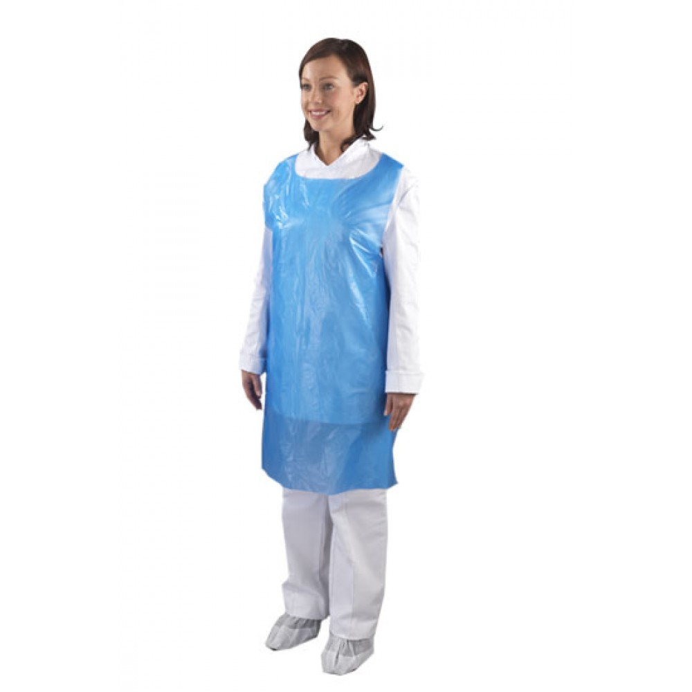 Berties Disposable Apron on a Roll Blue