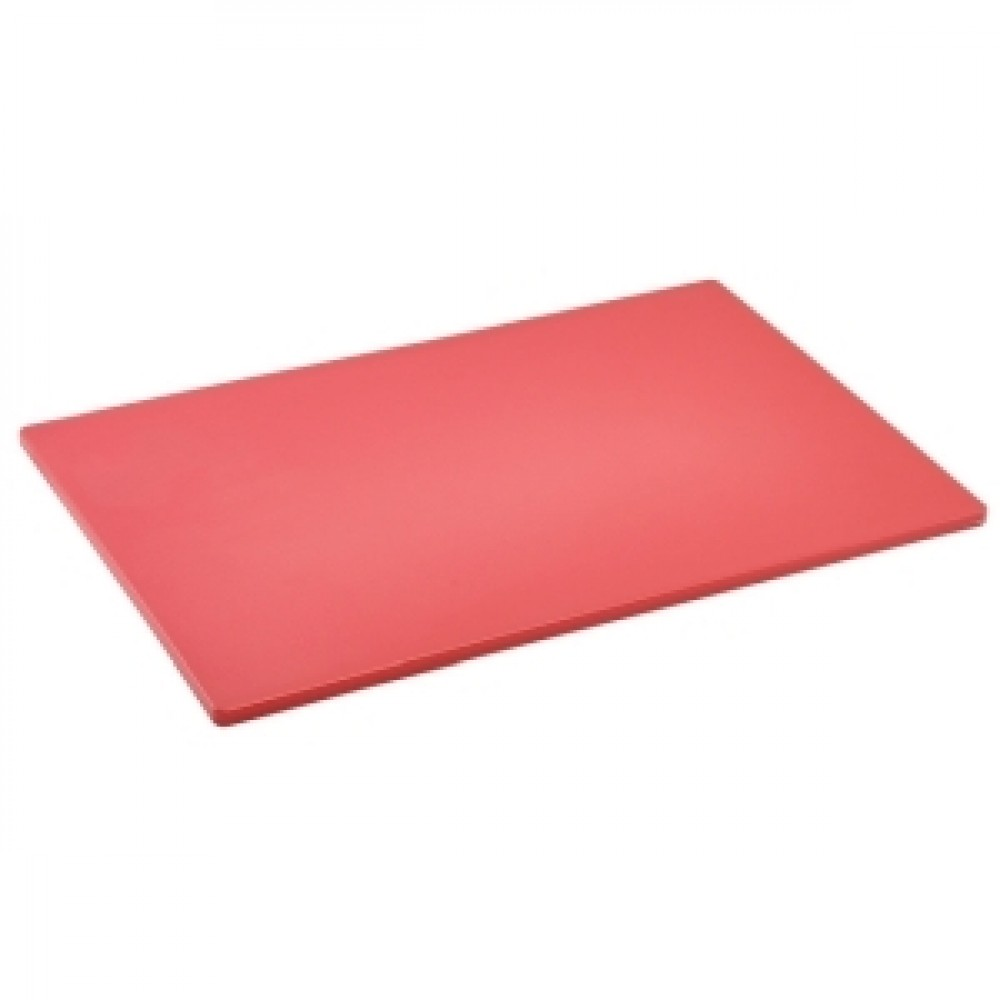 Genware Red Low Density Chopping Board 450x300x12.5mm