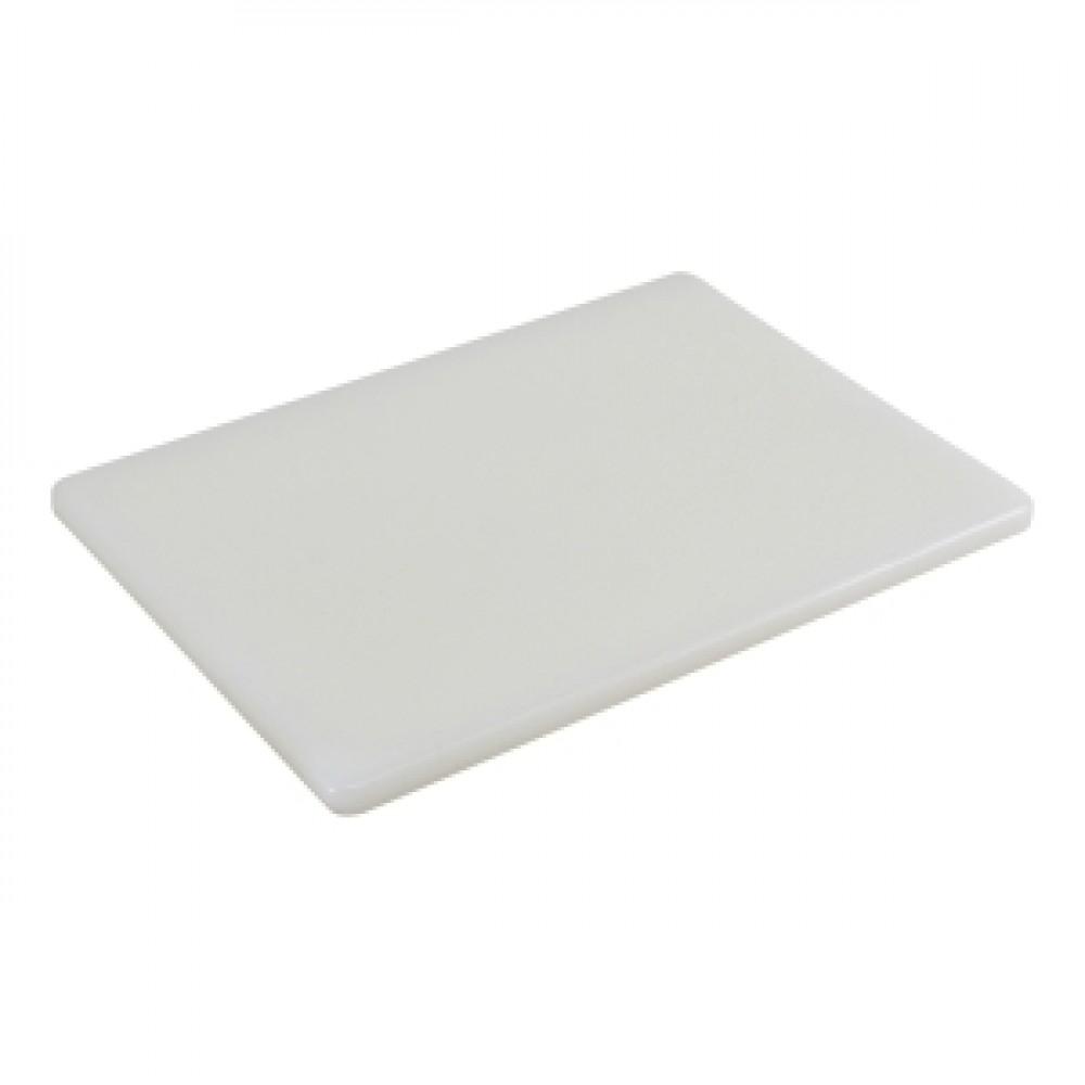 Genware White Low Density Chopping Board 450x300x12.5mm