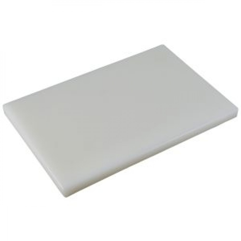 Genware White Chopping Board 450x300x25mm