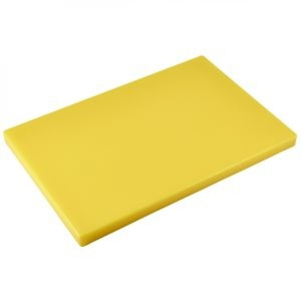 Genware Yellow Chopping Board 450x300x25mm
